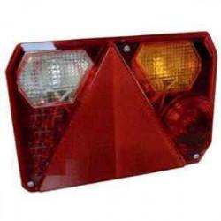 Feu RADEX 6400 droit 5 fonctions avec feu de recul et feu de position orange pour remorque