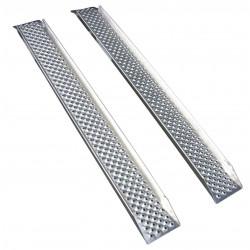 Jeu de 2 rampes droites en aluminium avec rebords