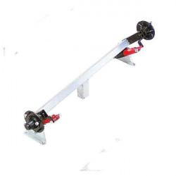 Essieu non freiné avec amortisseurs hydrauliques pour remorque DAXARA type 127