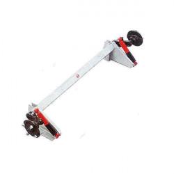 Essieu non freiné avec amortisseurs hydrauliques pour remorque DAXARA type 147 et 148