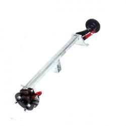Essieu non freiné avec amortisseurs hydrauliques pour remorque DAXARA 237/8-237/9x4-218