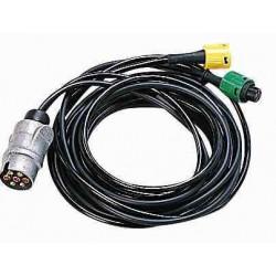 Faisceau 2 câbles - 5 conducteurs pour remorque ERDE et DAXARA modèles 122-127et PM 300/310