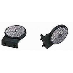 Catadioptre cristal rond / support plat pour remorque ERDE / DAXARA 102 à 147