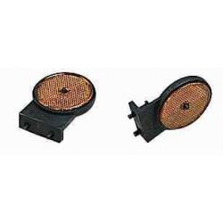 Catadioptre ambre rond / support plat pour remorque ERDE/DAXARA PM300/CH450/750