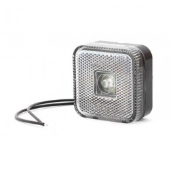 Feu de position blanc à LED carré pour remorque