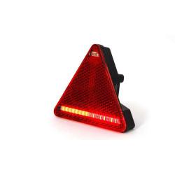 Feu arrière gauche triangulaire à LED 6 fonctions avec antibrouillard pour remorque