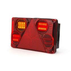 Feu arrière gauche à LED 6 fonctions pour remorque