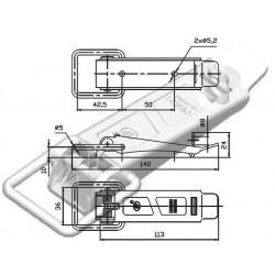 Grenouillère à ressort galvanisée longueur 140mm pour remorque