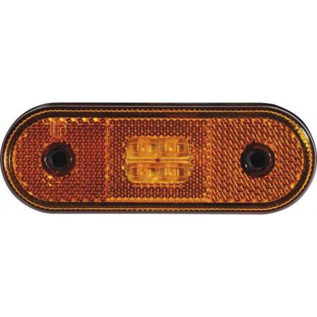Feu orange led 12/24V avec catadioptre pour remorque