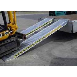 Rampes aluminium renforcées 2M50 pour remorque