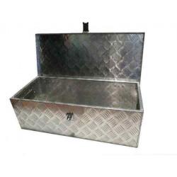 Coffre de rangement en alu 123 x 38 x 38 pour remorque