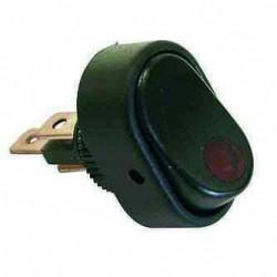 Interrupteur 12V à bascule LED rouge pour remorque