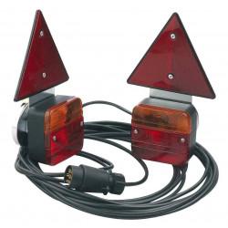 Kit éclairage remorque magnétique triangle 7,5m / Entre feux 4m