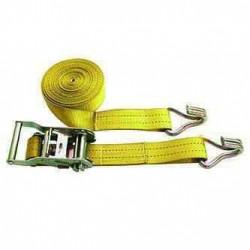 Sangle 35mm avec tendeur et 2 crochets L:4,5m pour remorque