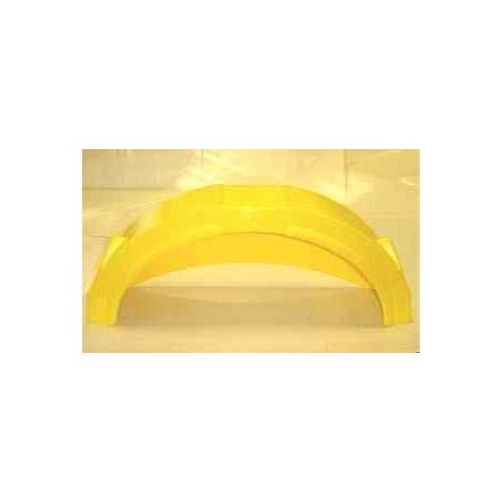 """Garde boue plastic jaune 13""""-14"""" avec marche pied"""