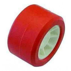 Galet rouge 100x50 diam 21,5 pour remorque MECANOREM