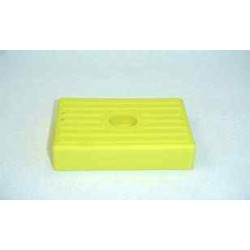 Patin jaune 130 x 100 x 36 mm