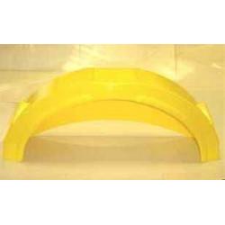 """Garde boue plastique jaune 12""""-13"""" avec marche pied"""
