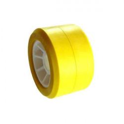 Galet jaune intérieur blanc 100x50alésage 21 pour remorque MECANOREM