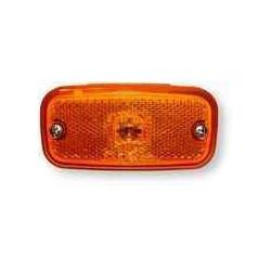 Feu de position latéral AJBA orange avec catadioptre intégré pour remorque