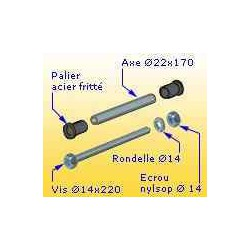 Kit axes complet d'articulation raquette