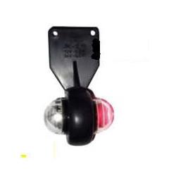 Feu de gabarit gauche bicolore à leds 12/24V avec câble pour remorque