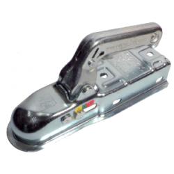 Tête d'attelage non freinée tube carré 60 mm double perçage dessus et latéral