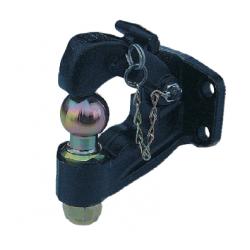 Crochet mixte 2 trous diamètre 17mm entraxe perçage 90mm