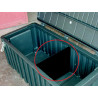 Cloison de séparation pour coffre noir en polyéthylène - JUMBO