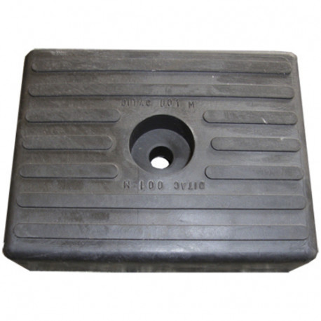 Patin noir 130x100x36 mm