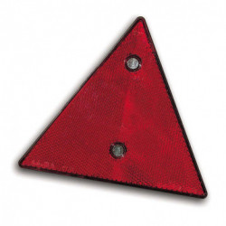 Catadioptre triangulaire rouge à visser