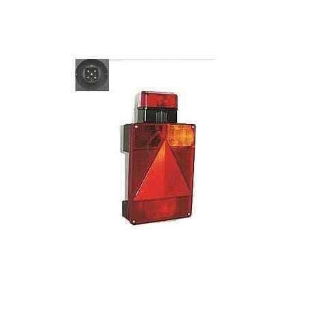 Feu remorque RADEX 6800 vertical droit 5 fonctions avec feu de gabarit et feu de recul