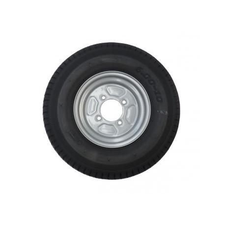 Roue complète 500x10 4 trous 130 mm