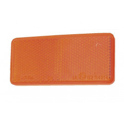 Catadioptre rectangulaire orange autocollant